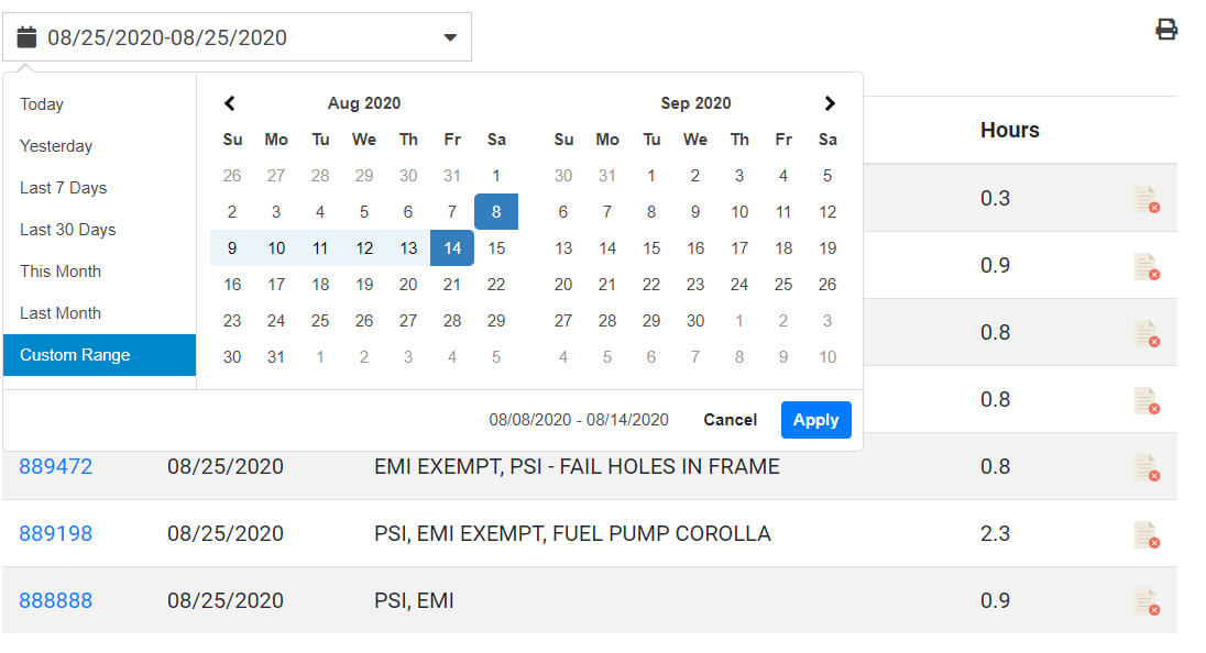 Custom Date Picker